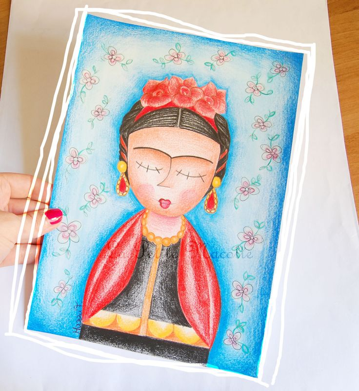 Illustrazione Frida Kahlo, disegno a matita,arte, quadro, decoro casa : Disegni di la-petite-mascotte