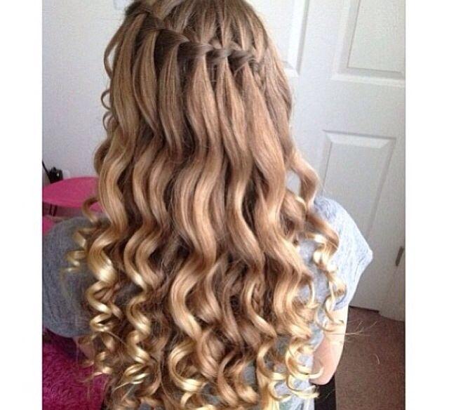 Waterfall Hair Blonde Cute Curls