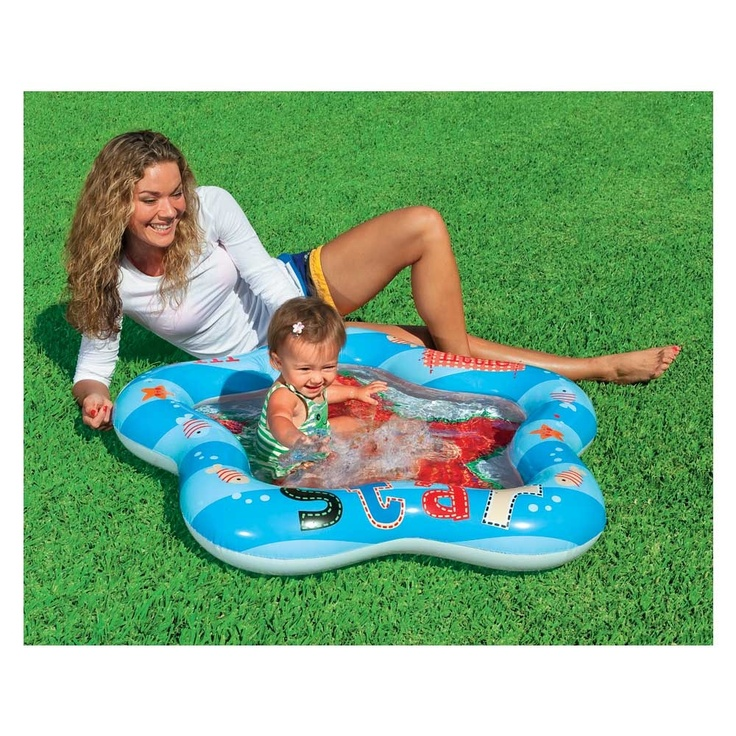 Intex 40 x 39 x 5 lil 39 star baby pool garden for Baby garden pool