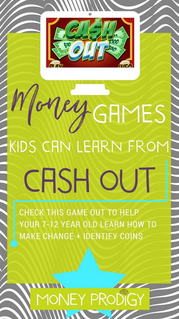 Cash register games online can help your little one learn how to handle money + prep them for actually paying for an item in a store one day. Cash Out is for ages 7-12, and offers three skills levels. Money skills that are reinforced include recognizing coins and coin values, making change, recognizing currency, and using mental math.