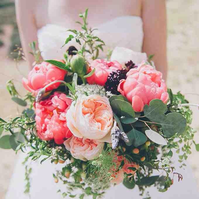 Garden Rose And Peony Bouquet 25 best wedding bouquets images on pinterest | marriage, branches