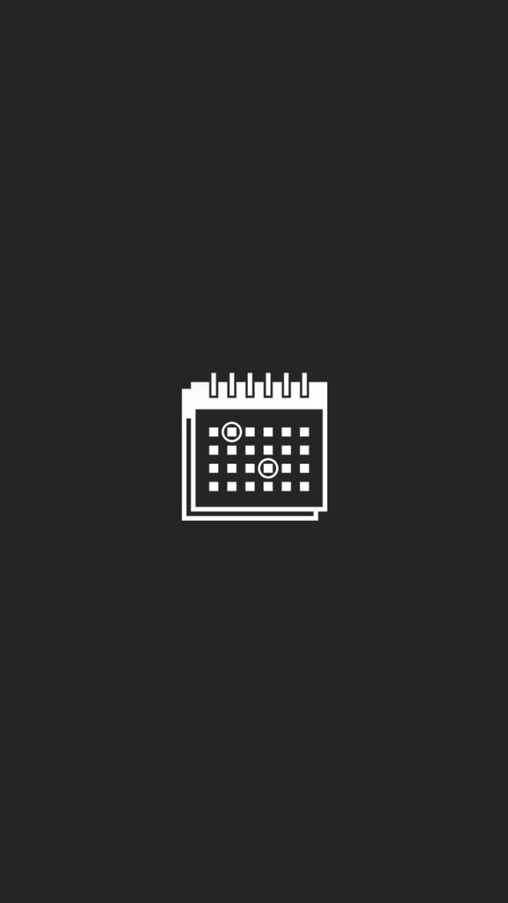Calendar icon for instagram highlight cover icons