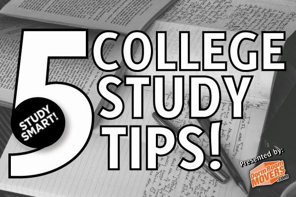 College Study Tips - Dorm Room Movers Blog