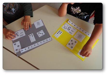 Réaliser un livre des nombres en maternelle : élèves en activité, livre à compter