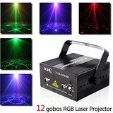 Home lighting Laser Projector Mini Stage Lights Auto Sound Active Party Light Combo for Family Parties Birthday Celebration