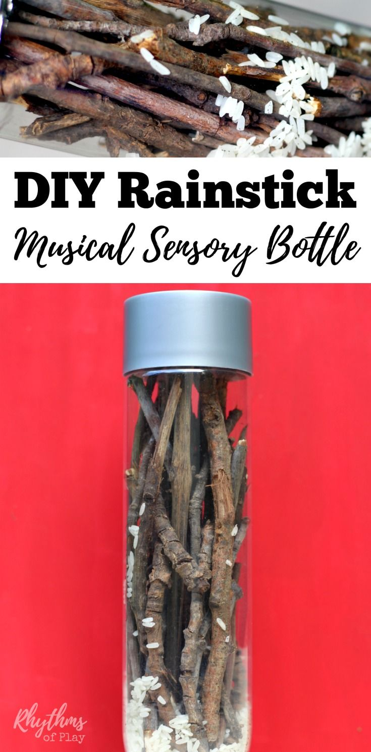 Preschool rain stick craft - Diy Rainstick Musical Sensory Bottle