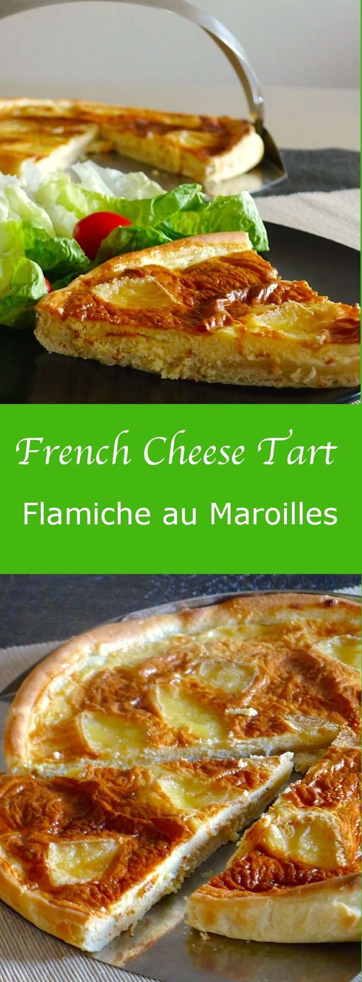 Flamiche au Maroilles, a traditional recipe from the North of France was born on a day when a woman went to Dinant to sell her farm products at the market. #196flavos