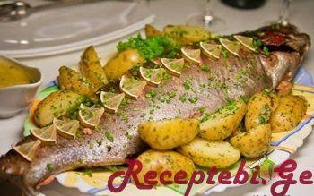 თევზი სატენით | Receptebi - Salatebi - რეცეპტები