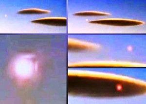 UMA LINDA CIGANA DO ORIENTE: UFO DISFARÇADO EM NUVEM LIBERA ESFERA DE LUZ: