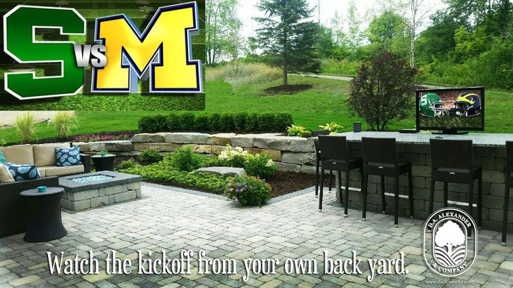 Watch the kickoff from your own back yard. #MSU #UofM #gameday loveyourlandscape #daalexander