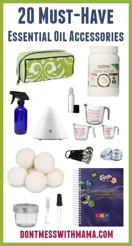 20 Must-Have Essential Oil Accessories and Supplies #essentialoils - DontMesswithMama.com