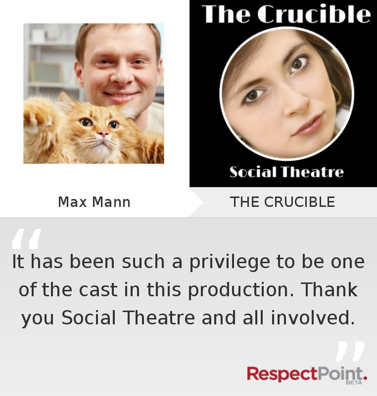 Click through to see what Max Mann had to say about THE CRUCIBLE on RespectPoint.com.