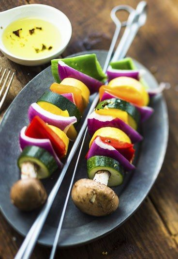 Receta: Brochetas de verduras - 10 recetas vegetarianas rápidas y sencillas