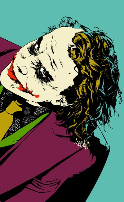 "Joker by @Vee Ladwa ""Well, Hello beautiful, you must be Harvey's squeeze! And you are beautiful. Well you look nervous, is it the scars?"""