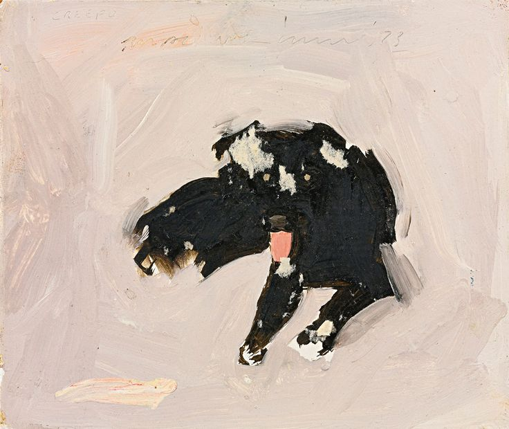 "Fairfield Porter, ""Creepo (The Dog)"", 1973"