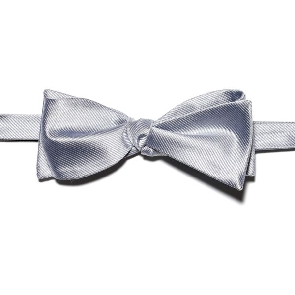 Silver Bow Tie | Finish The Look | Pinterest | Silver ...  Silver Bow Tie ...