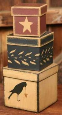 Home Decor - Nesting Boxes - Beth's Country Primitive Home Decor & Quilted Bedding