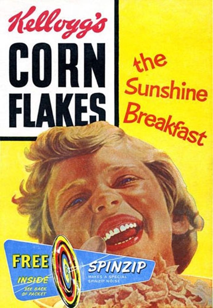 Corn Flakes: Corn Flake packet in the 1960s The Kellogg's logo was drawn by an…