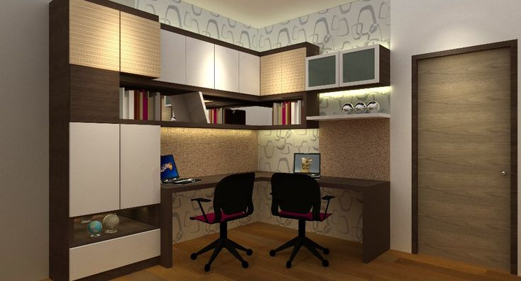 Corner study/buffet cabinets