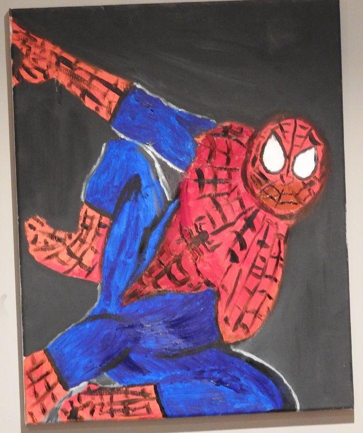 Spider-Man, oil, 18x24