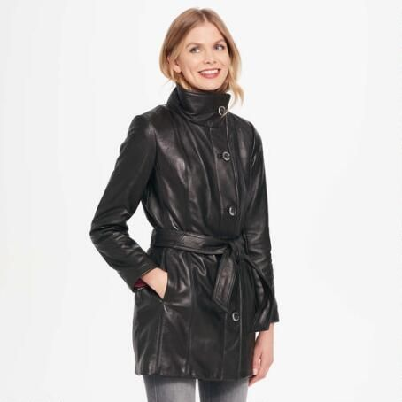 Wilsons Leather Wing-Collar Belted Lamb Hipster Jacket $244.99                      Our Price Now:                                           $500.00                      Comp Value Was: