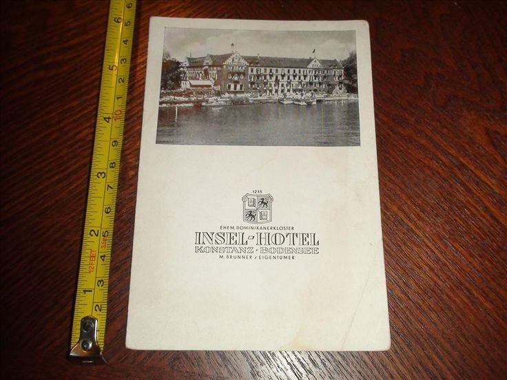 BP705 Vintage Hotel Ad Insel Hotel Konstanz Bodensee Lake Constance Germany | eBay