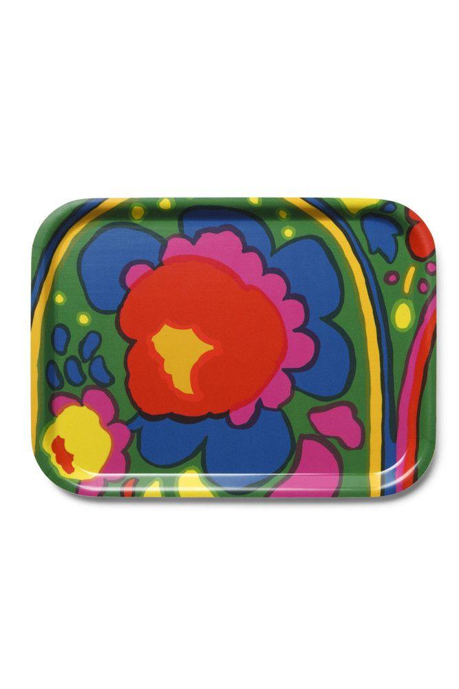 Marimekko Pieni Karuselli Small Tray Green/Yellow