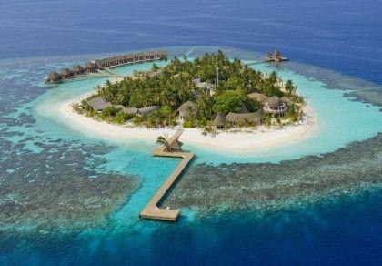 Крошечный курорт Kandolhu Island на Мальдивах