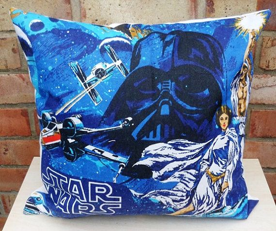 Star Wars R2D2 & C3PO, Pricess Leia, Darth Vader, Luke Vintage Fabric Cushion Selection - handmade by Alien Couture