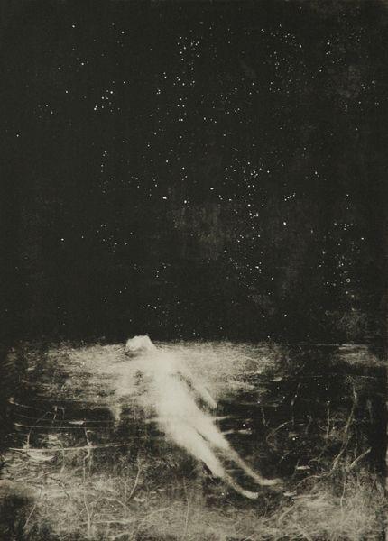 Sophie LéCuyer - 'Bain d'Etoiles' (2013). Monotype.