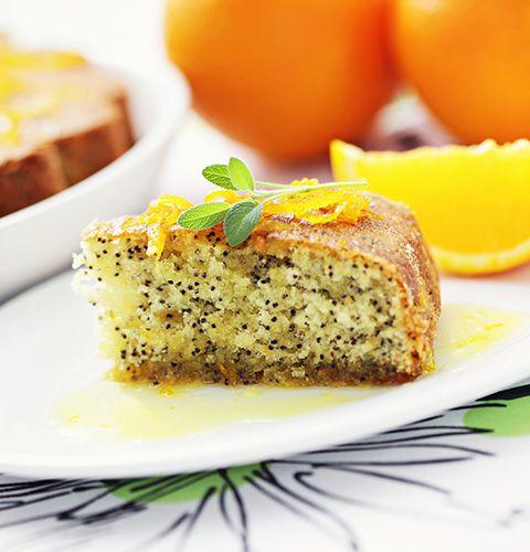 Маковый пирог с апельсином