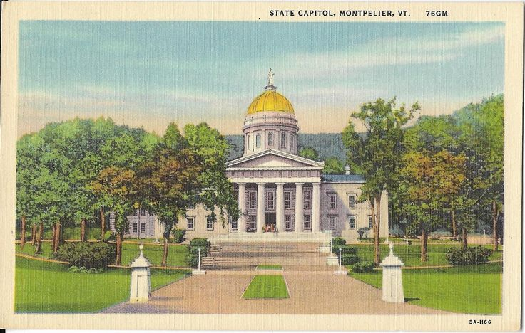 Montpelier (OH) United States  City new picture : montpelier vermont linen postcard more states postcards united states ...