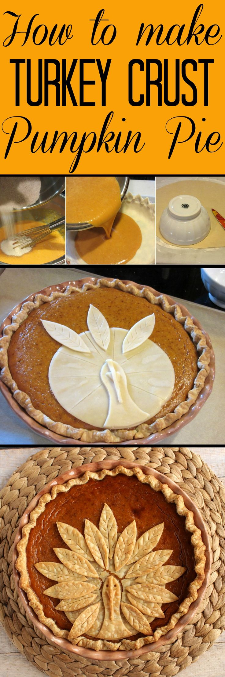 This Adorable Turkey Crust Pumpkin Pie is easy to recreate and will amaze your family and friends this holiday season.