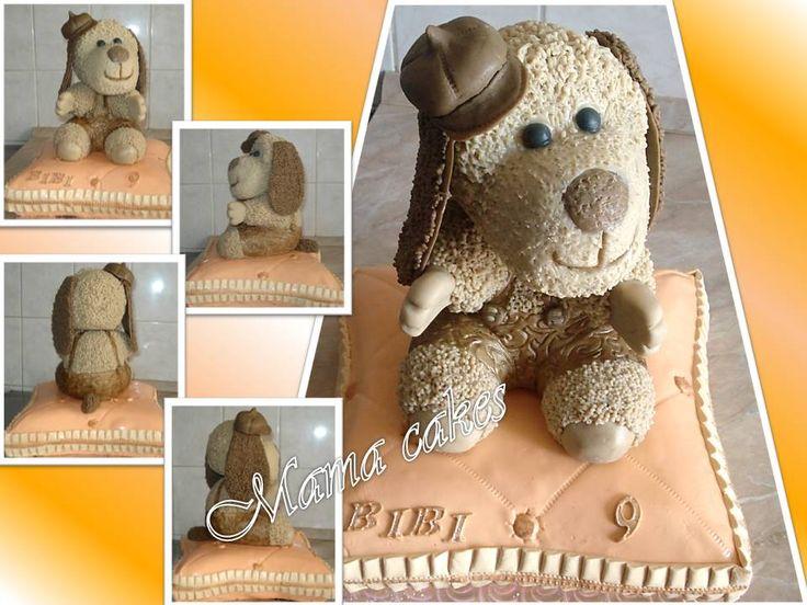 Plyšáček na polštářku - toy dog on pillow