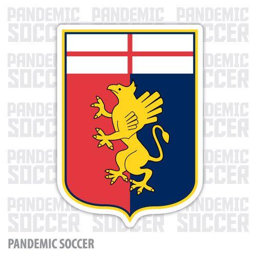Genoa CFC Calcio Italy Color Vinyl Sticker Decal