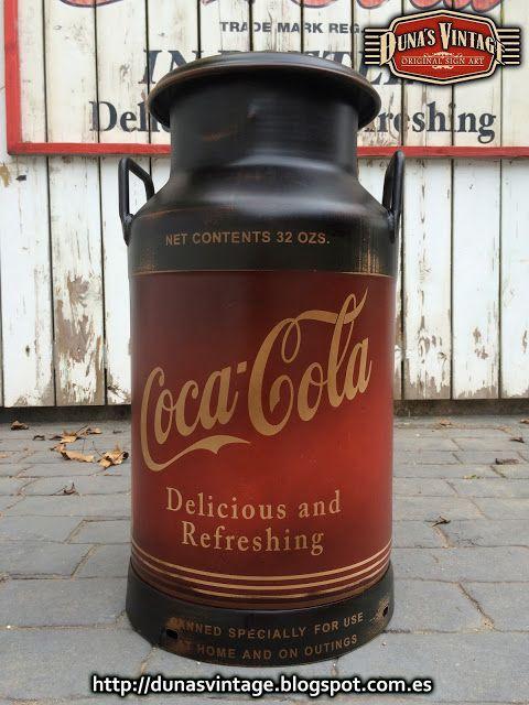 DUNA´S VINTAGE: Lechera pintada de Coca-Cola