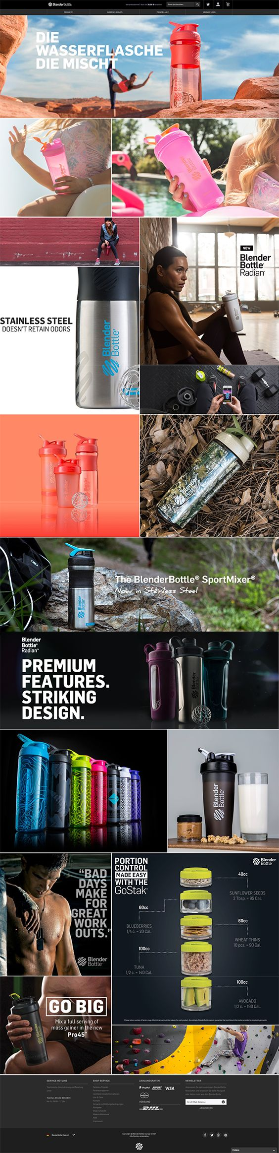 #ShopwareDesign #ShopwareTheme #ShopwareShop #eCommerce #eCommerceSoftware #eCommerceplatform #Onlineshop #Sports #Equipment #Blenderbottle #Drinkingbottle