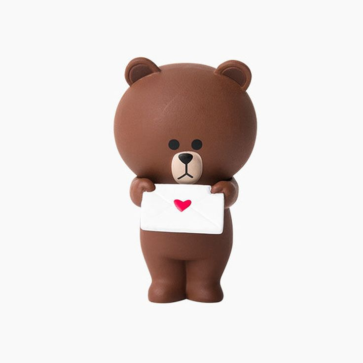Line Friends Character Letter Brown 4.5cm 1.8in Mini Figure Original (Unopened) #Line