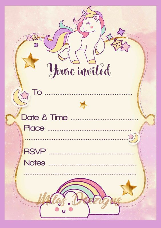 graphic relating to Unicorn Invitations Printable identified as Pastel purple fill within just Unicorn printable invitation