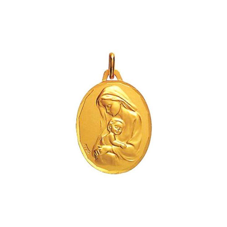 Medaille Vierge or jaune Augis Médaille Vierge à l'enfant (or jaune 18ct) sur PremierCadeau.com