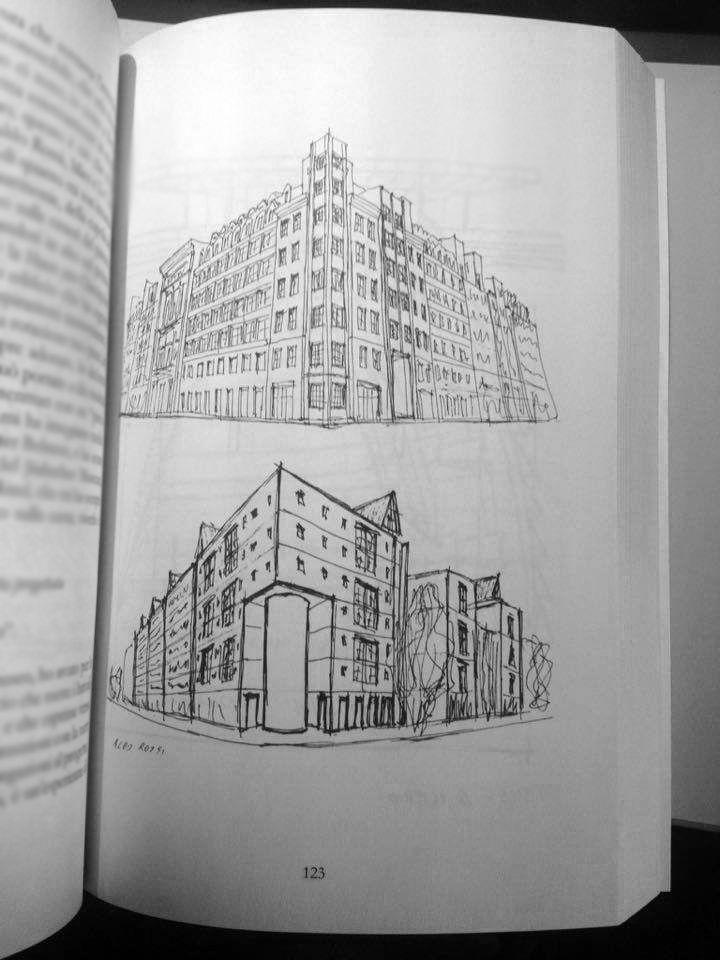 «nella vita come in architettura, se cerchiamo una cosa non cerchiamo solo quella»  l'architetto non serve?!  #libro #architettura #viaggi #disegni #aldorossi #berlino #larchitettononserve #book #architecture #travel #sketch #berlin #studioaldo