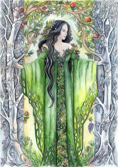 Yavanna, credit to to the artist... My favourite Vala :)