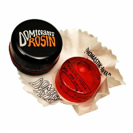 Thomastik Dominant Violin Rosin The Dominant Violin Rosin is a high quality Rosin manufactured from premium larch resin. Suitable for all synthetic core strings this rosin enables swift and precise action in regards to bow movement  http://www.MightGet.com/january-2017-11/thomastik-dominant-violin-rosin.asp