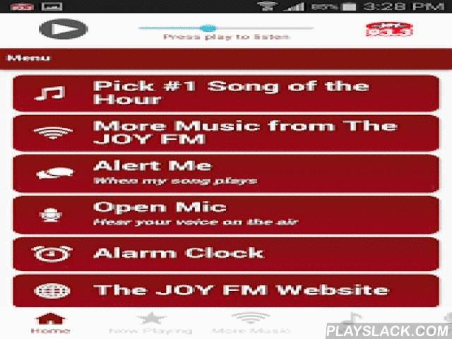93.3 The JOY FM Atlanta  Android App - playslack.com ,  93.3 The JOY FM Atlanta. Helping you find JOY wherever you go! Download the app now and hear Positive Uplifting Music from your favorite Christian artists. Get e-mail, text or Twitter alerts when your favorite songs are about to play and get in on the fun with Open Mic. Find more JOY with our Praise, Classic and Lightforce music channels, too. Wake up to The JOY FM with our Alarm Clock feature and check weather and traffic. Thanks for…