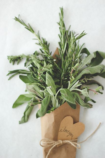An herb bouquet for valentines day from The Homebook.