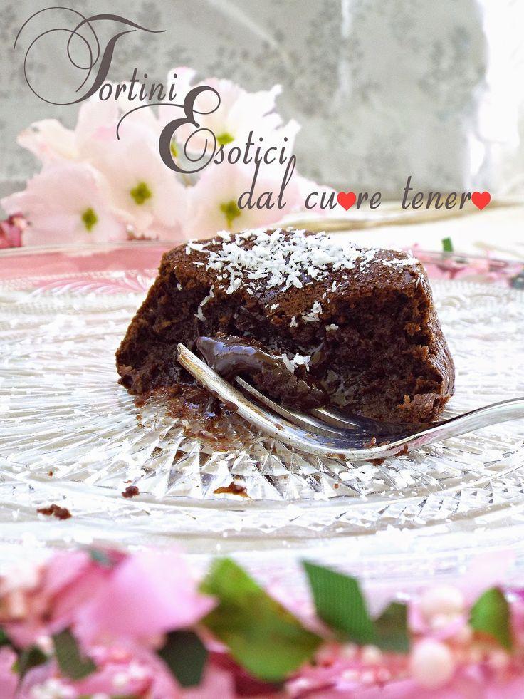 I biscotti della zia: Tortini esotici dal cuore tenero (cioccolato fondente e cocco)