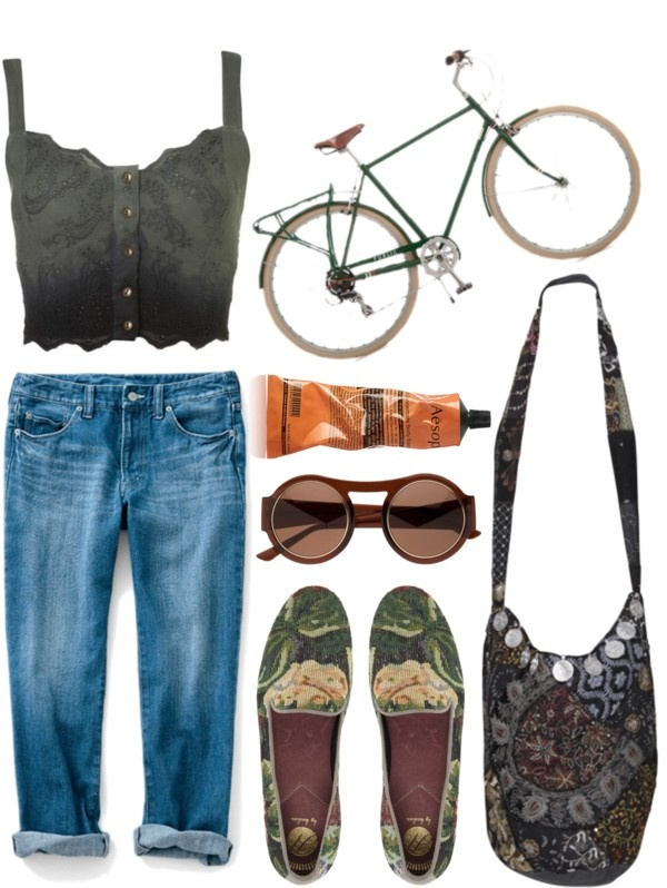"""Me, My Bike and I."" by burnishedgold on Polyvore"