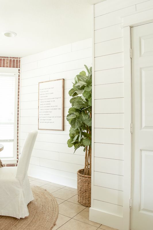 Shiplap Walls: The Cheap & Easy Way | http://LittleRedBrickHouse.com