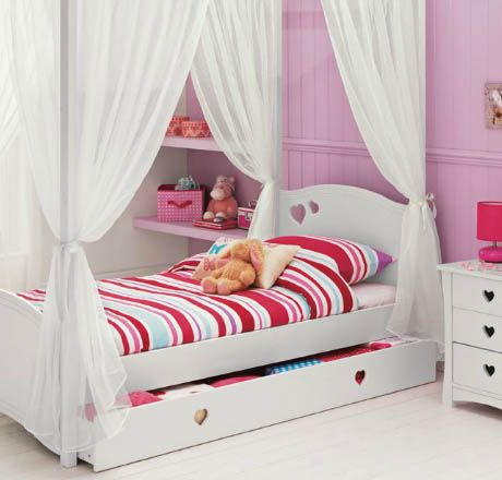 argos white heart bed 2