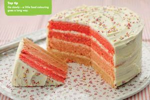 Macmillan Coffee Morning Recipes - Easy Ombre Cake